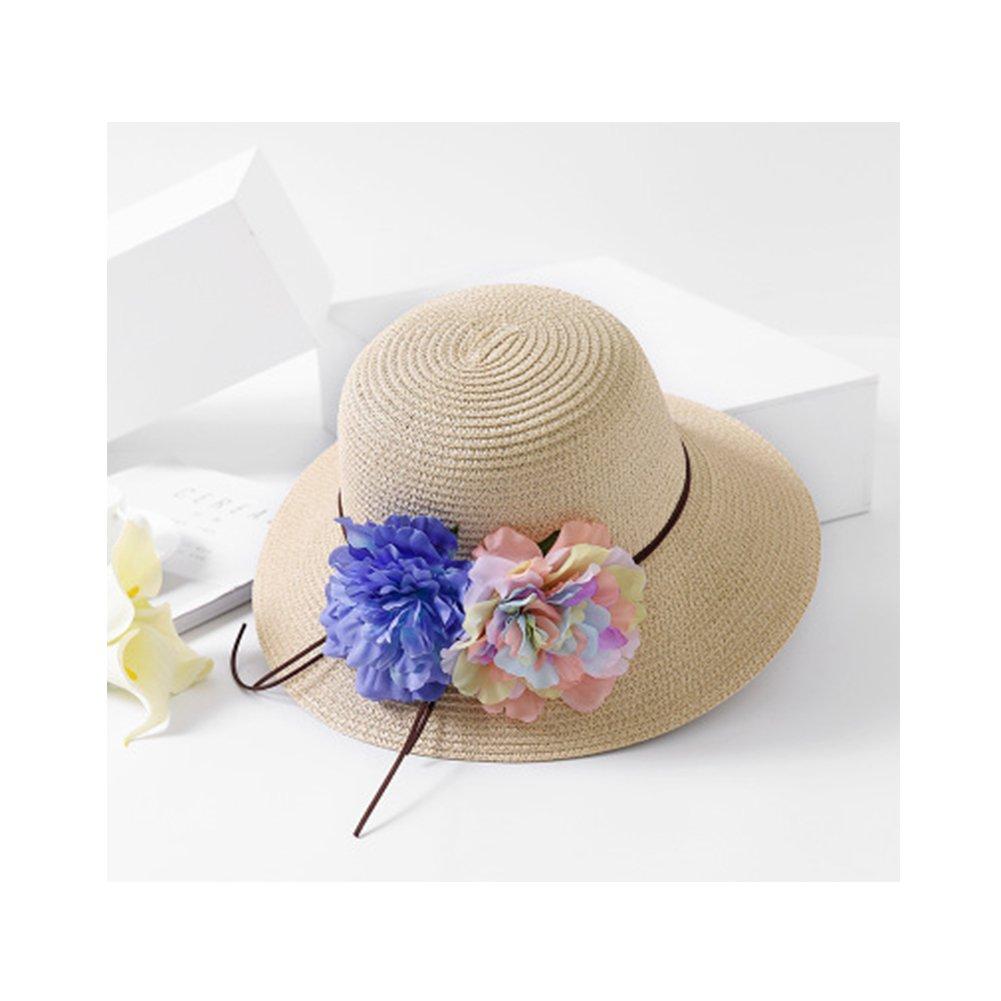 Women's Fashion Foldable Wide Brim Sun Hat Big Straw Floppy Beach Hat for Travel