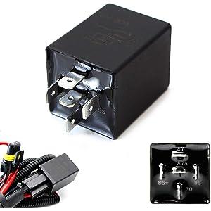 Amazon com: Parts Express 330-075 12 VDC 5-Pin Relay Socket