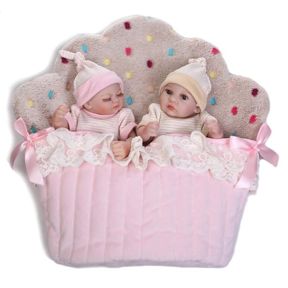 IIWOJ Reborn Babypuppe, 26cm Mini Simulation Silikonpuppe Niedliche realistische Fotografie Fotografie Fotografie Requisiten,Gelb dfcc51