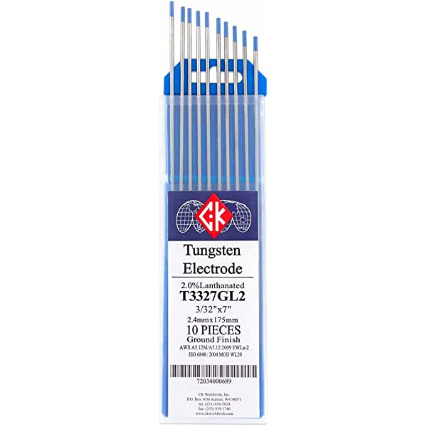 "CK T3327GZ-3 0.8/% Zirconiated Tungsten Electrode 3//32/"" X 7/"" 3 pack"