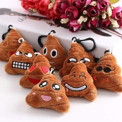 Bonito emoji emoticono sonriente de peluche suave en forma ...
