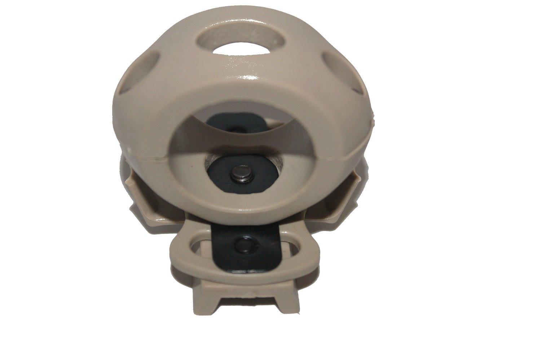 linterna abrazadera de ajuste r/ápido Cascos t/ácticos Fast Mitch casco para baranda lateral