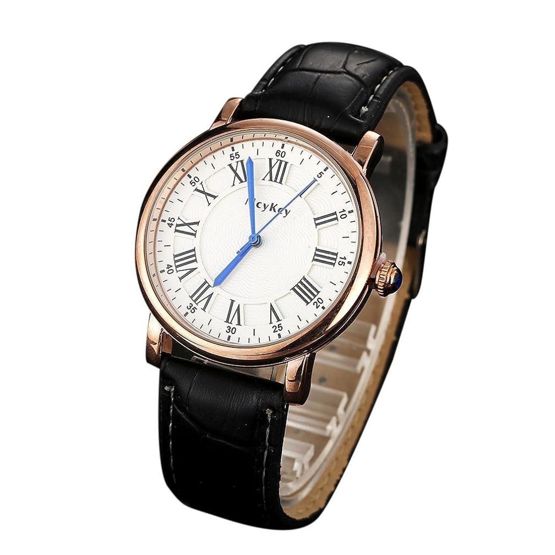 Sinma Men 's Quartz Watchesシンプルエレガントな腕時計レザーアナログDate Wrist Watches for mcykcy B071V8K3RZ