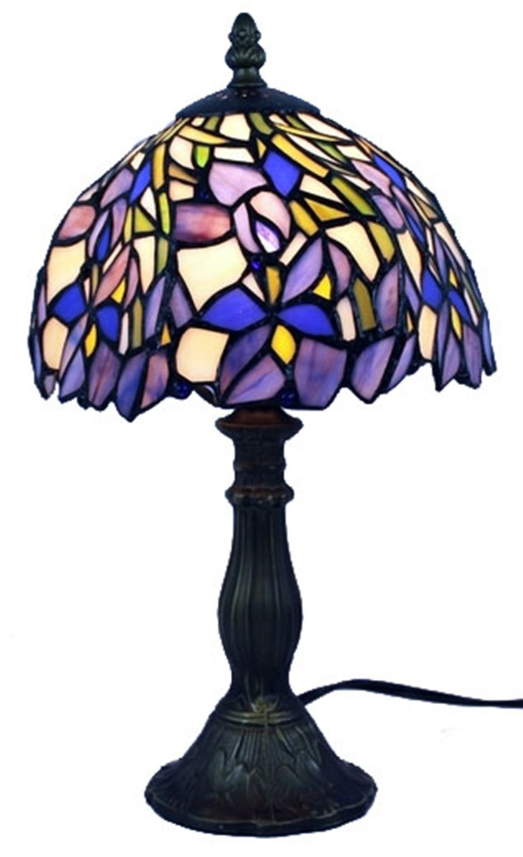 Amora Lighting AM1076TL08 Tiffany Style Iris Mini Table Lamp, 15""
