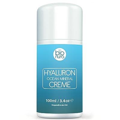 Ácido hialurónico Mineral complejo Crema para cara, manos, el cuello y dekolleté. hydrat isierende Crema de Día con natural ácido hialurónico, jojobaöl, Manteca de Karité,