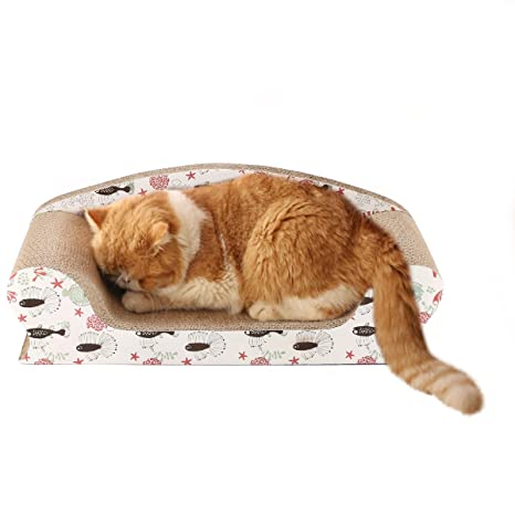 Vivaglory Cat Scratchers Sofa Lounge For Large Cats, Kitty Cardboard  Scratch Bed, Kitten Scratching