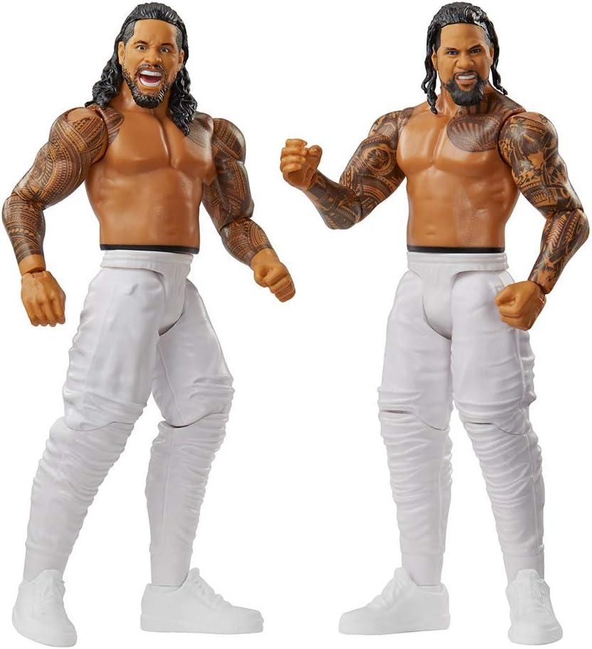 WWE - Pack de 2 figuras de acción luchadores Jimmy vs Jey Juguetes niños +6 años (Mattel GBN67)
