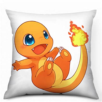 35 x 35 cm Pokemon franela Charmander impreso almohada cojín ...