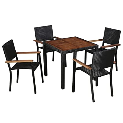 Brilliant Fesjoy Patio Dining Set 4 Seater Outdoor Garden Furniture Home Interior And Landscaping Ologienasavecom