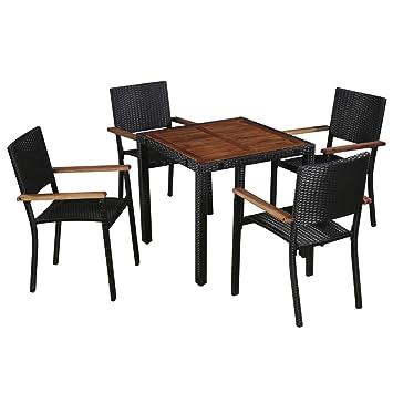 Table De Jardin Amazon.Fesjoy Ensemble De Patio Mobilier De Jardin Exterieur 4