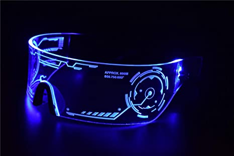 Amazon.com: Cyberpunk LED Tron Visor anteojos – perfecto ...