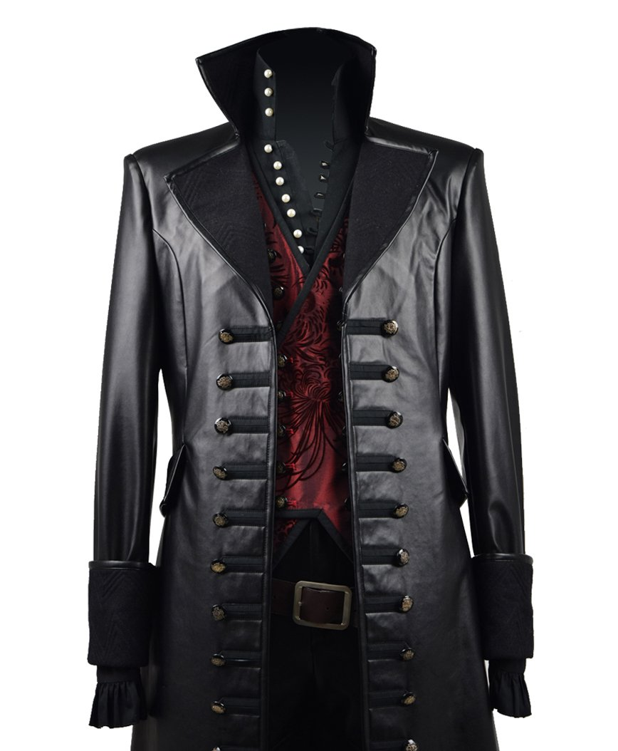 Very Last Shop Hot Fairy Tale TV Series Pirate Captain Costume Men's Halloween Pirate Costume Red Vest (US Men-L, Black & Red) by Very Last Shop (Image #4)