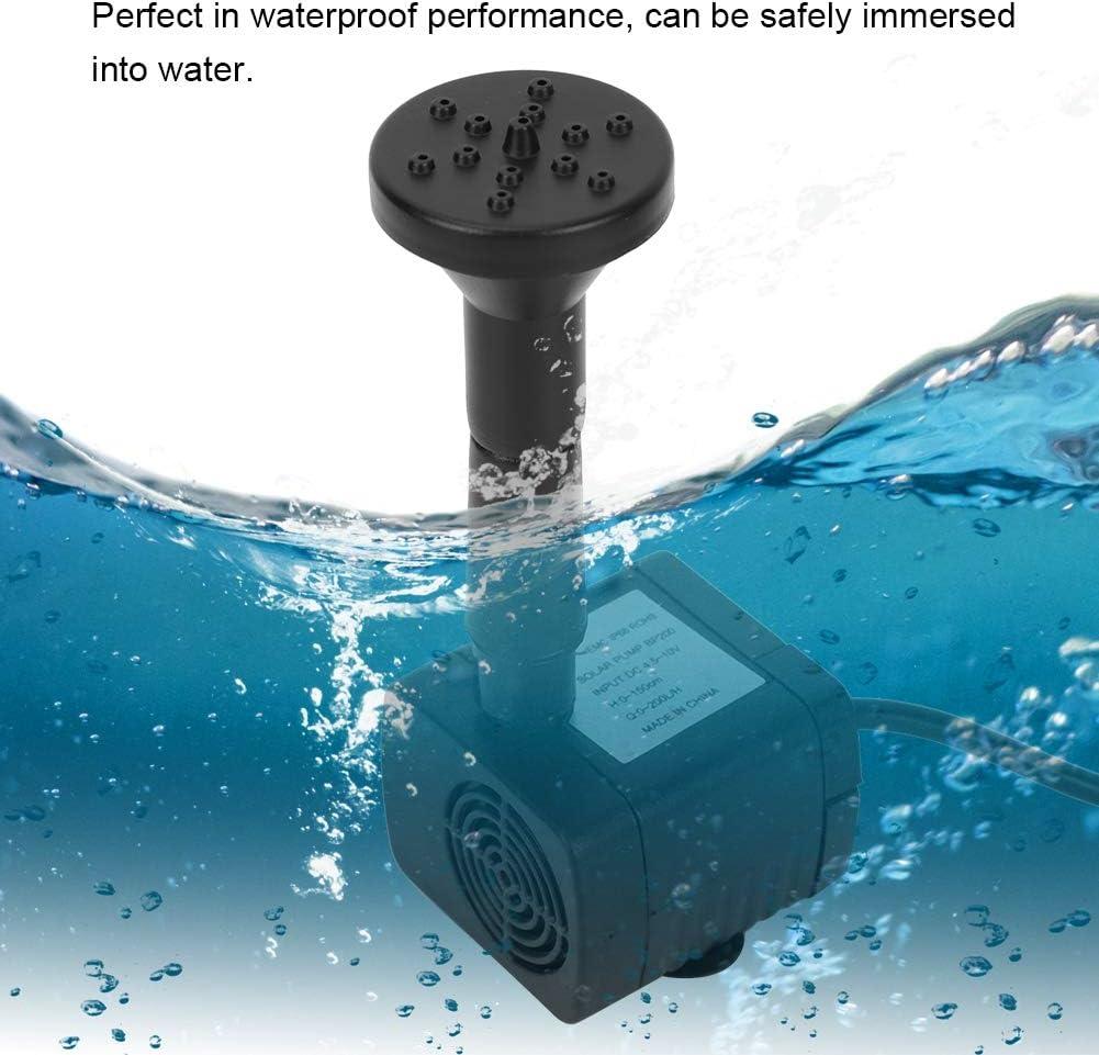 D/écorati Fontaine miniature 1.2W micro sans brosse Kit de pompe /à eau submersible Pompe solaire de fontaine fontaines de jardin avec piscine