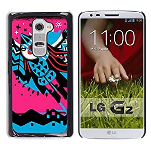 MOBMART Carcasa Funda Case Cover Armor Shell PARA LG G2 - Flying Through The Colored Pattern