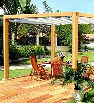 Roman Pergola   Classic Wooden Pergola With Retractable Roof