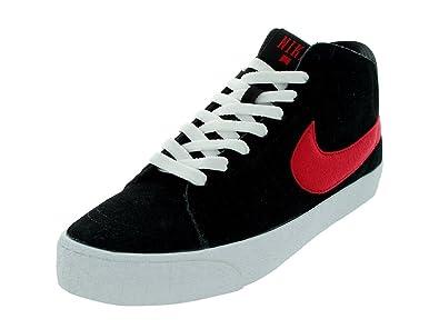 641405b5cc Nike Men s Blazer Mid LR Black University Red White Casual Shoes 8.5 Men US