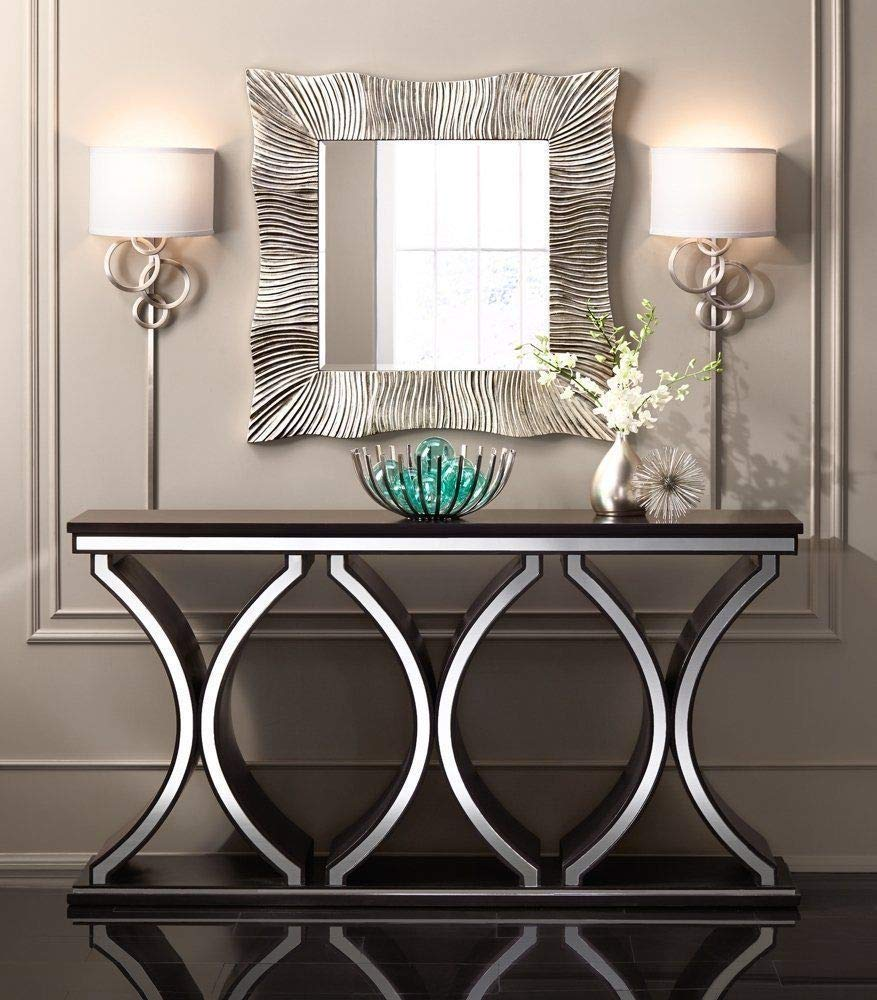 Venetian Image Unique Modern Console Table With Vibrant Design For Living Room Entry Hall Way 54 W X 15 D X 34 H Inch Amazon In Home Kitchen
