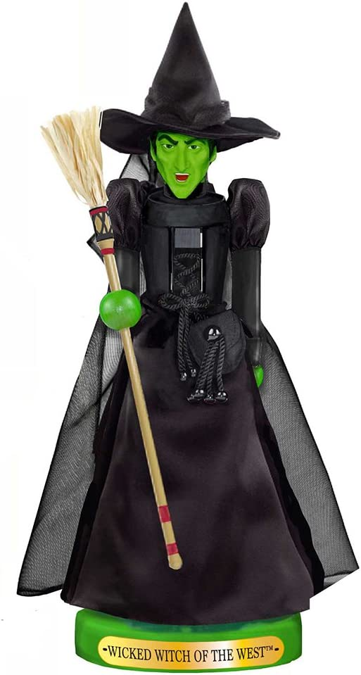 Amazon Com Kurt Adler 11 Inch Wizard Of Oz Wicked Witch Nutcracker Home Kitchen