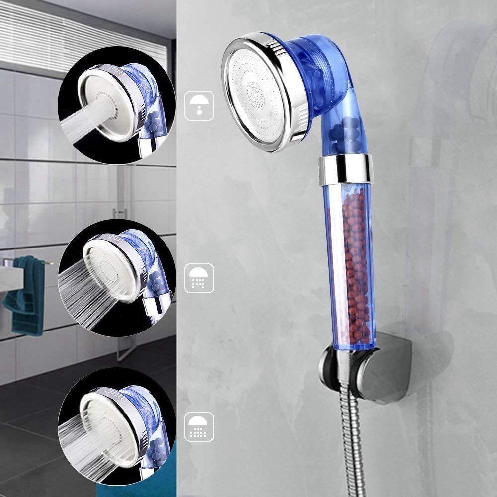 XZANTE Doccetta Universale Soffione Doccia Componenti 3-Mode Ionic Premium Filtro A Base di Cloro Doccetta Irrigatore A Risparmio Idrico