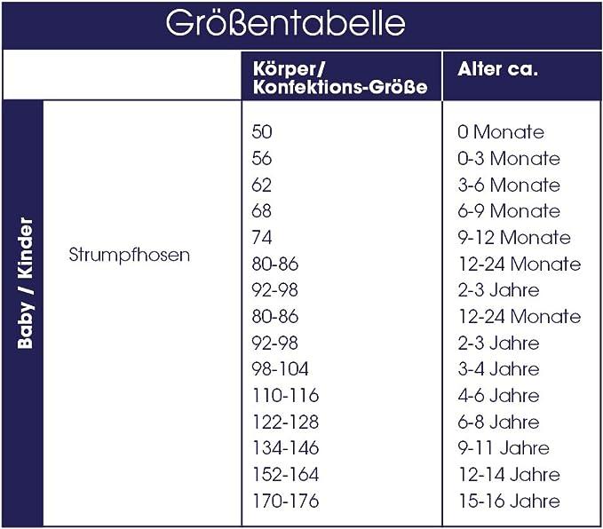 inibini 3er Pack Babystrumpfhose f/ür M/ädchen und Jungen MADE IN EUROPE Strumpfhose 98/% Baumwolle Uni Basic Kinderstrumpfhose