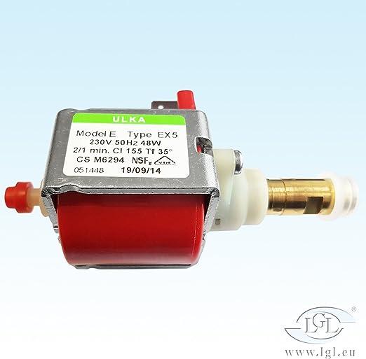 Agua Bomba Ulka EX 5 para cafeteras automáticas – 230 V/50 Hz/48 W ...
