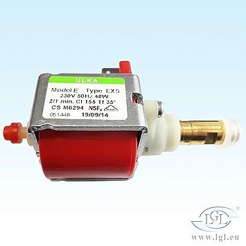 Agua Bomba Ulka EX 5 para cafeteras automáticas - 230 V/50 Hz/48 W - Saeco: Amazon.es: Hogar