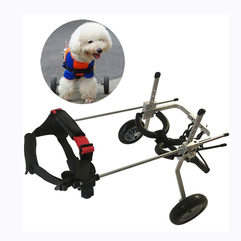 CWLYDYI Adjustable Pet Wheelchair Dog Wheelchair Elderly Helper for Cats and Puppies Hind Legs Repair Dog Push Wheel (Size : XS) by CWLYDYI