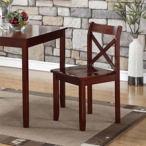Boraam 21201 Jamie Dining Chair (Set of 2), Cherry - Brown Cherry Dining Chairs