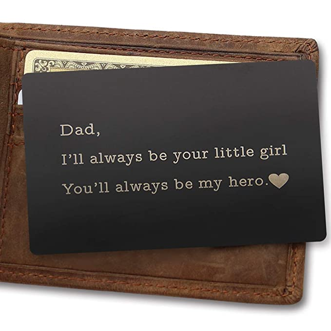Personalized Wallet Card, Metal Wallet Insert, Custom Engraved Gifts for  Dad, Boyfriend, Husband