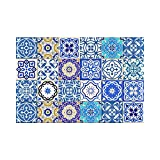 Tile Stickers 24 PC Set Authentic Traditional Talavera Tiles Stickersl Bathroom & Kitchen Tile Decals Easy to Apply Just Peel & Stick Home Decor 6x6 Inch (Bathroom decals)