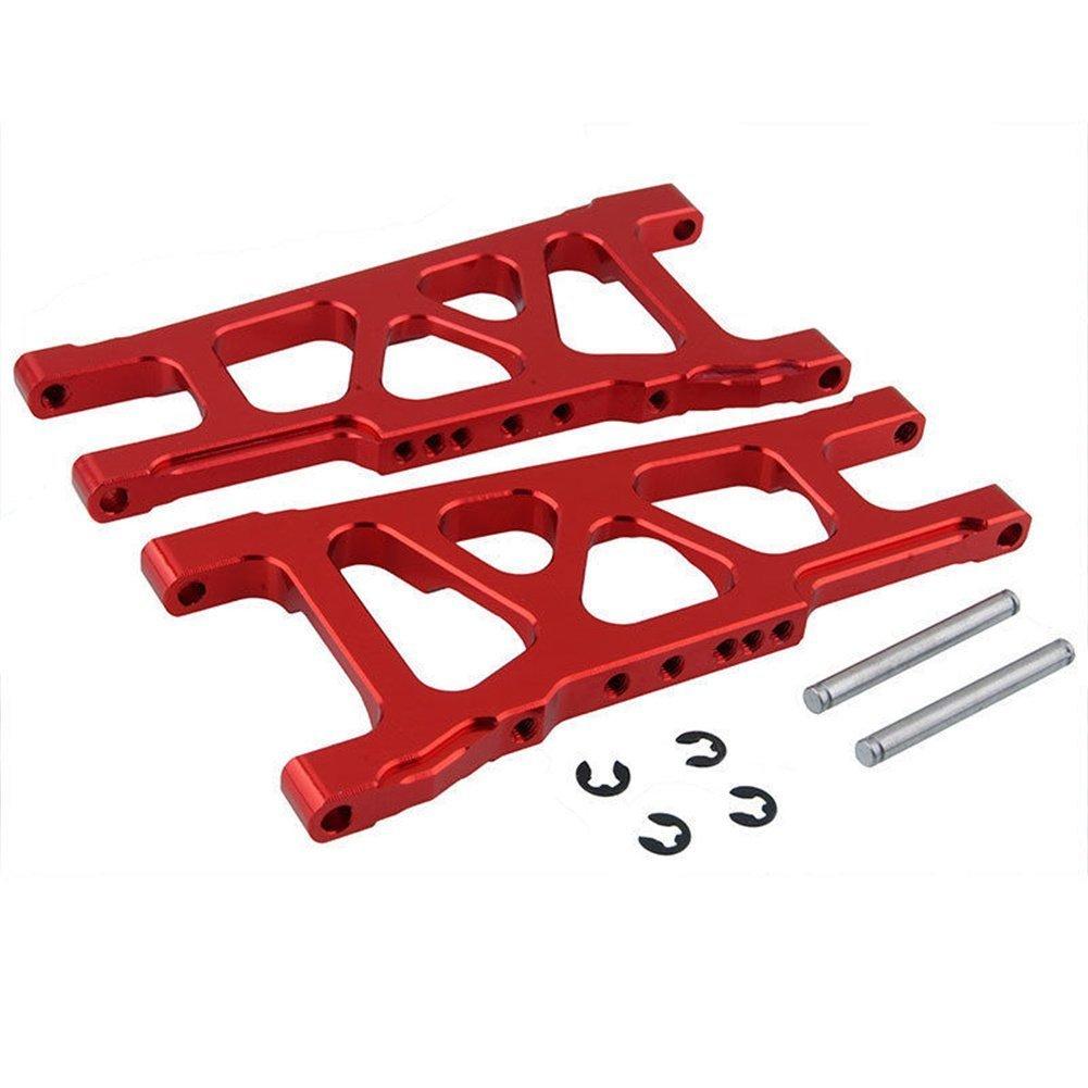 2paires en aluminium de suspension Bras gauche et droite avant/arrière pour 1/10Traxxas Slash 4x 4de remplacement d'3655X Option mise à niveau pièces Moreparts 3655X