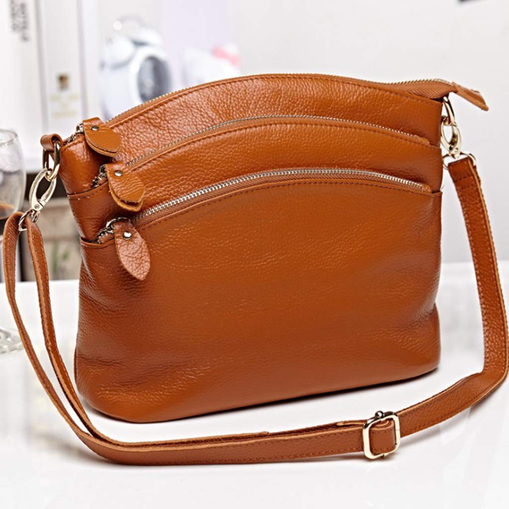 as described MagiDeal Ladies Clothing Accessories Soft Lychee Cowhide Leather Tote Messenger Hobo Shoulder Bag Brown