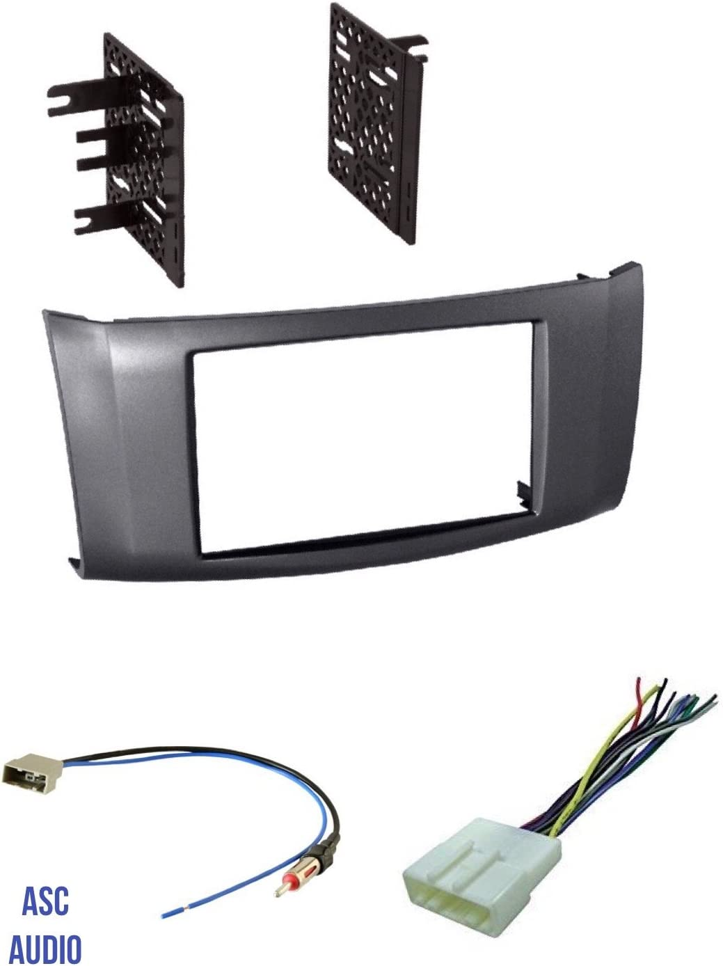 Car Stereo Radio Install Dash Trim Face Mount Kit Combo for 07-12 Nissan Sentra