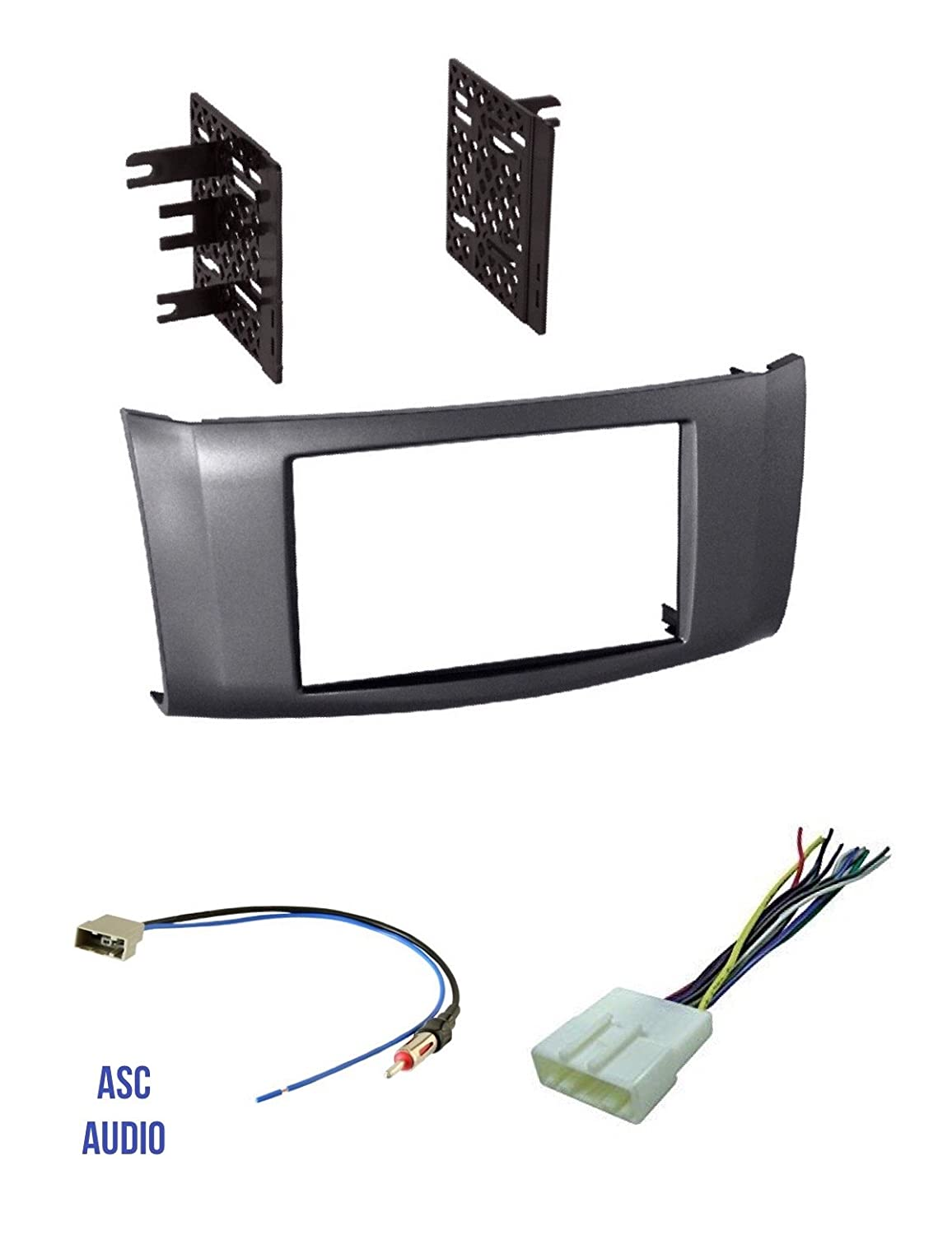Wire Harness Premium Car Stereo Install Charcoal Gray Dash Kit and Antenna Adapter for Installing a Double Din Aftermarket Radio for 2013 2014 2015 2016 Nissan Sentra Other
