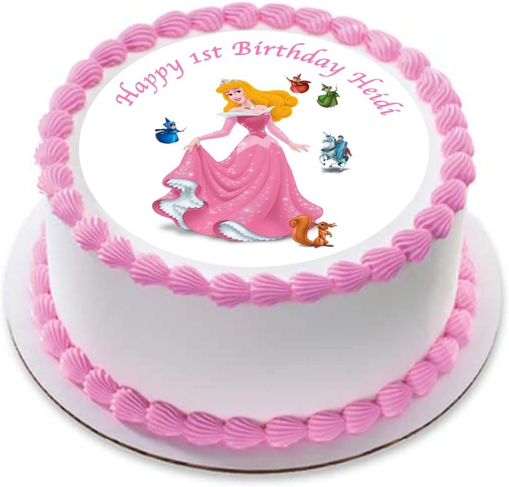 Marvelous Aurora Sleeping Beauty Princess Personalized Cake Topper Icing Personalised Birthday Cards Paralily Jamesorg