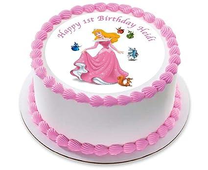 8 Disney Princess Aurora Edible Card Rice Paper Cupcake Cake Toppers Birthday