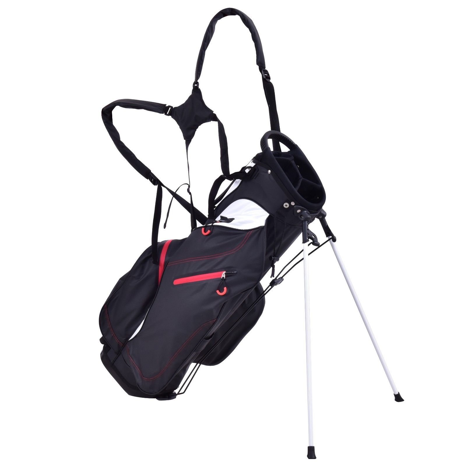 TANGKULA 8.5'' Golf Bag 5 Way Divider Carry Bag Golf Stand Cart Bag