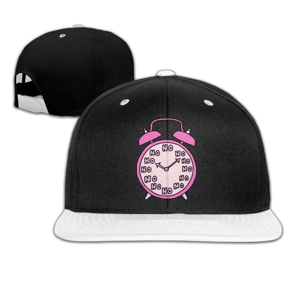 Hip Hop Caps Clock Pink Cotton Hats Adjustable Unisex Baseball Cap