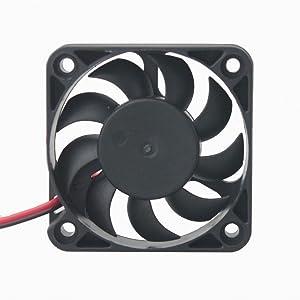GDSTIME 50mm x 50mm x 12mm 24v Dual Ball Bearing Brushless Cooling Fan