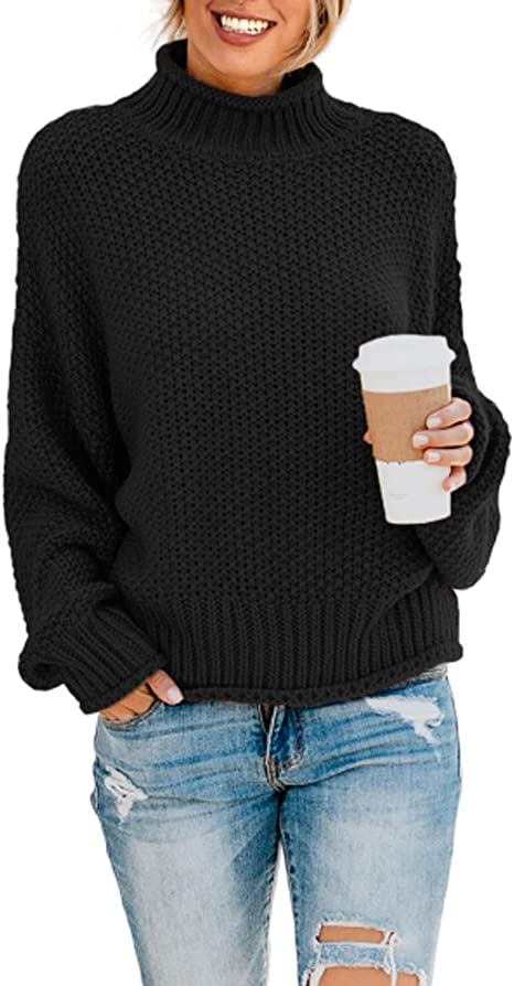 Cas Lady 100/% Wool Womens Textured Knit Turtleneck Long Sleeve Pullover Sweater