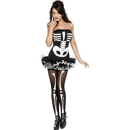 NET TOYS Disfraz de Esqueleto para Mujer Brilla en la Oscuridad ...