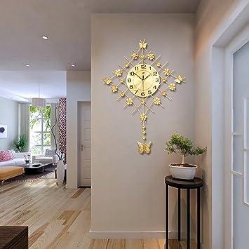 Flashing  Europäische Pastoral Ruhige Große Glocke Uhr Quarz Uhr Wohnzimmer  Moderne Einfache Kreative Mode Wanduhr