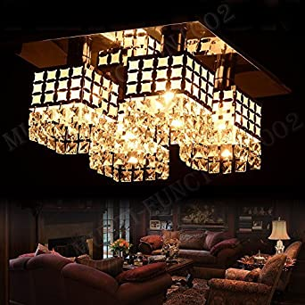 Charming ANNT Modern Ceiling Light Shabby Chic Hall Light Fittings Crystal  Chandelier Fixture Flush Mount Gein Pattern With 4 Lights For Living Room,  Hallway, ... Part 18