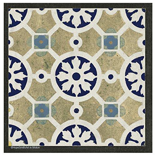 Indigo Tile - Thirstystone Stone Drink Coaster Set World Indigo Tiles, Multicolored
