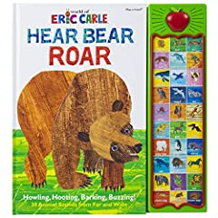 Your little animal lovers will love hearing the amazing art of Eric Carle come alive! This sound book includes 30 animal themed sound buttons to press and captivating creatures on each page making Hear Bear Roar an amazing and interactive adv...