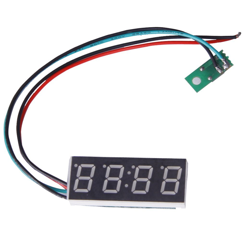Horloge digitale - SODIAL(R)Numerique pour moto ou en voiture (Format 24 H, 16 mm, reglable, 7-30 V) 038149