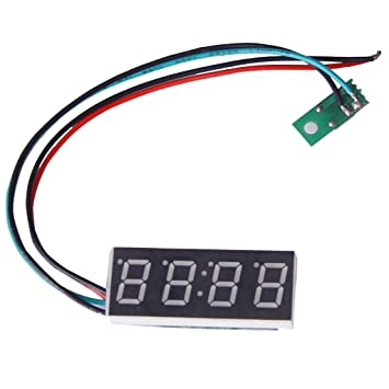 SODIAL(R) Reloj digital para moto o coche (formato 24 H, 16 mm, ajustable, 7-30 V), color azul: Amazon.es: Coche y moto