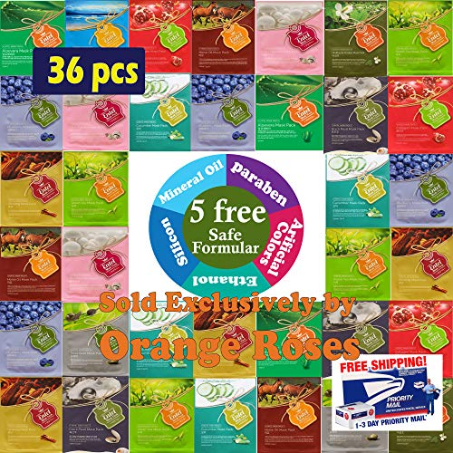 44ce87c234f {Entel} 36 Pcs Combo-Pack, Premium Korean Essence Facial Mask Sheet (