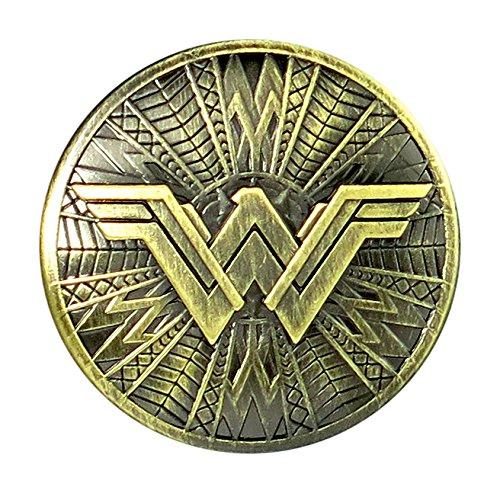 (DC Wonder Woman Brass Shield Pewter Lapel Pin Novelty Accessory)