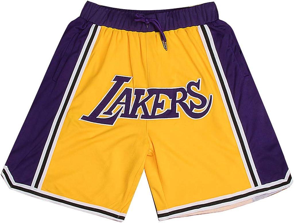 L.A. Lakers Shorts - Pantalones Cortos de Baloncesto para Hombre ...